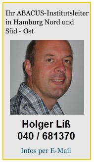 Kontakt: ABACUS Nachhilfe Hamburg Nord (Nord-Ost) und ABACUS Nachhilfe Hamburg Süd (Süd-Ost) - Holger Liß