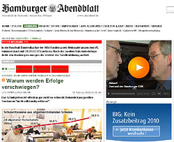 Screenshot: Hamburger Abendblatt (2009)