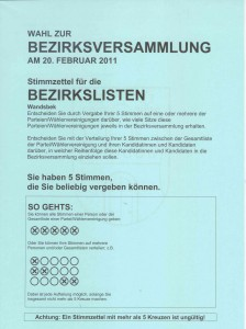 Bezirkslisten Wahl Hamburg 2011