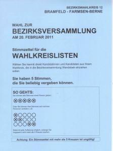 Wahlkreislisten Hamburg auf Bezirksebene